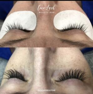 Classic Eyelash Extensions Before and After