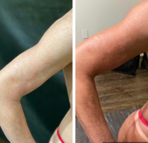Coco Mocha Tan Before and After